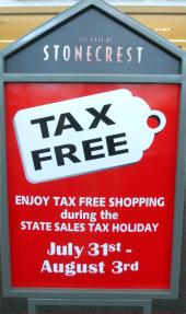 Tax-Free Holiday - August 3-6. 2006