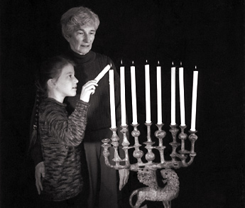Chanukah Menorah - eight candles celebrating a miracle