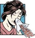 WomanSneezing