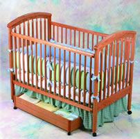 Simplicity Aspen 3-in-1 Crib with a Wooden Mattress Support