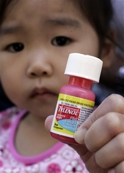 Child with Cold Medicine
