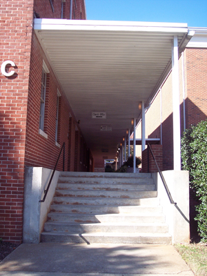 Stairs to the C Building at Avondale First Baptist Church