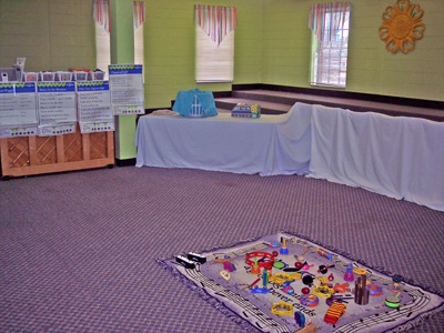 Our Kindermusik Classroom in the Solid Rock Room at Avondale First Baptist Church, Avondale Estates, Georgia