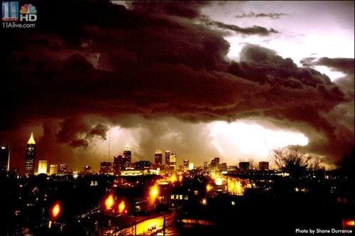 Tornado that struck downtown Atlanta on March 14, 2008