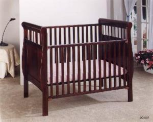 Recalled Jardine Cherry-finish crib
