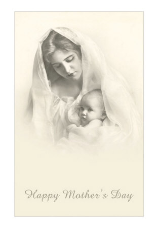 Happy-Mother-s-Day-Mother-and-Child-in-Veil-Posters